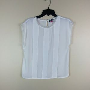 f6baeb3803cef Vince Camuto size M white sleeveless blouse